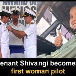 Sub Lieutenant Shivangi is India's first woman navy pilot
