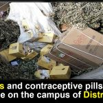 Condoms and contraceptive pills found in garbage