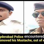 Bihar police/ cop removes mustache