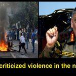 Army chief criticized violence