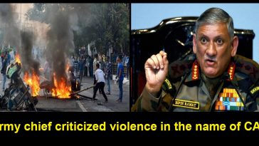 Army chief criticized violence