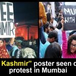 Free Kashmir poster during protest