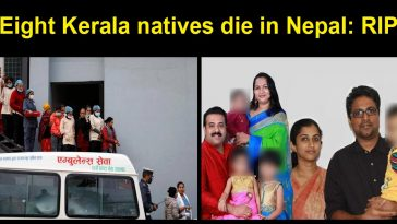 Eight Kerala natives die in Nepal