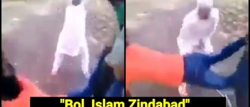 Muslim group forces man to shout Islam Zindabad
