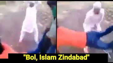 radical Muslim group forces man to shout Islam Zindabad