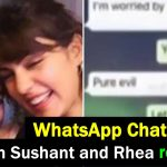 Rhea shared private Whatsapp chats with BF Sushant Singh, read details