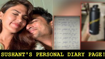 Rhea shared a secret page from Sushant Singh's personal diary, read details