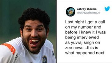 News channel calls Yuvraj Singh on Live TV, a random Guy picks up & roasts them