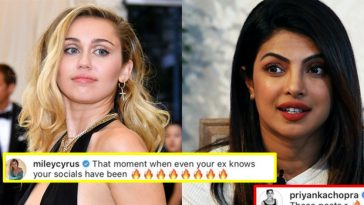 Priyanka gives a fitting reply to Nick Jonas's ex Miley Cyrus, check it out