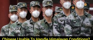Chinese troops fall ill