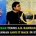 Bollywood Bhai insults AR Rahman in public and this is how he responded