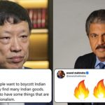 Chinese man trolls India's nationalism; Anand Mahindra shuts him with an epic reply