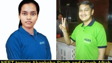 NEET topper Akanksha and Soyeb