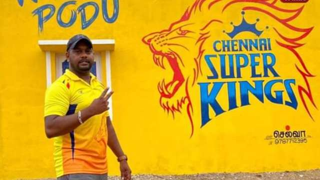 MS Dhoni has a touching message to a Fan who 'painted his Home in colours of CSK'