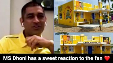Die-hard Dhoni fan paints his entire house in CSK's colour in Tamil Nadu