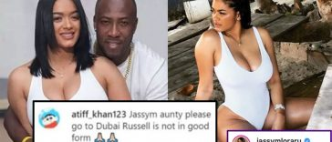 "Andre Russell's Wife hits out at Troll who called her ""Aunty"""