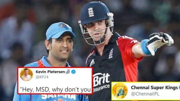 Kevin Pietersen tried to mess with MS Dhoni; gets a savage reply from CSK