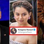 Kangana Ranaut compares Joe Biden to Aamir Khan's character from Ghajini movie