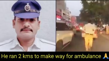 Hyderabad cop runs 2 km to clear Traffic only to make way for Ambulance