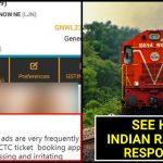 Man asks Indian Railways to remove 'Obscene Ads'; IRCTC schooled him