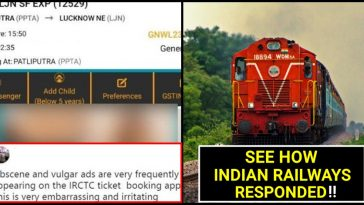 Man asks Indian Railways to remove 'Obscene Ads'; IRCTC schooled him