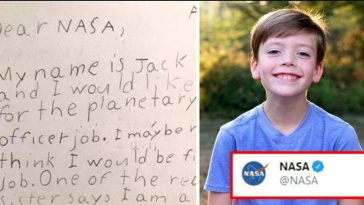 9-yr-old child applies for a Job at NASA; here's how NASA replied