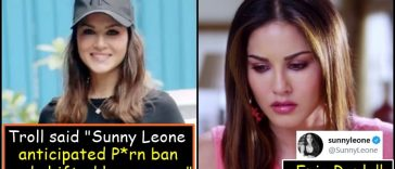 """Sunny Leone silences a Girl who said """"Sunny anticipated P*rn Ban and wisely shifted her career"""""""