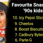These are the favourite snacks for '90s kids, check out the full list