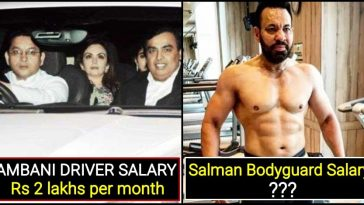 A quick comparison between Ambani's driver Salary and Salman's Bodyguard Salary