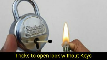 Open lock without key