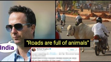 Indian roads full of Cows, Elephants, Goats and Pigs- Says former England cricketer Michael Vaughan