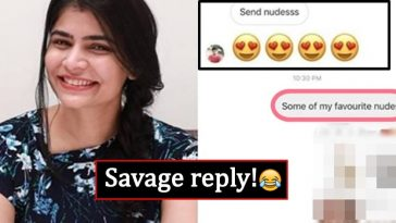 Pervert asks Chinmayi for nudes, gets a savage reply from her