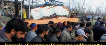 Muslims help perform the last rites of Pandit Woman in Kashmir's Baramulla