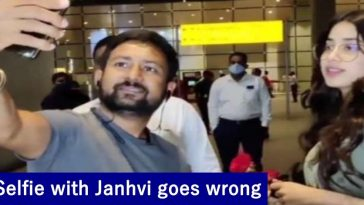 WATCH: A fan tries to take a selfie with Janhvi, her staff manhandles, video goes viral