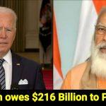 US owes India $216 bn