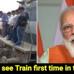 Villagers see train