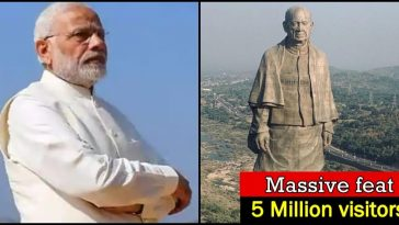 Statue of Unity achieves yet another landmark; crosses 50 lakh visitors