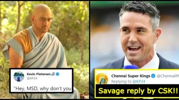 Kevin Pietersen took a dig at MS Dhoni; CSK gives the best reply ever