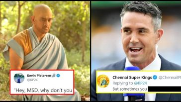 Kevin Pietersen posts a throwback photo and trolled Dhoni; gets an epic reply from CSK