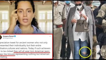 Netizens dig out Kangana's pics in torn American outfit after she shames modern achievers for wearing them