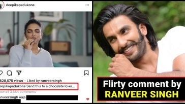 Ranveer Singh posts a 'flirty remark' on Deepika's post dedicated to chocolate lovers