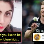 "New Zealand cricketer responds to Pak actress who wants ""Babies from him"""