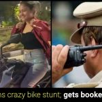 """Watch: Surat girl performs """"Bike stunts"""" without helmet, booked by police"""