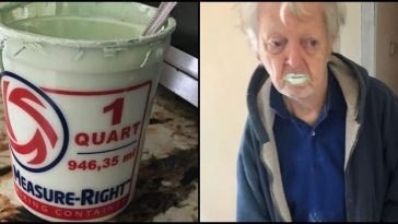 92-yr-old US man eats half a litre of paint mistaking it for Yogurt, read details