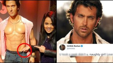 This girl put her finger inside Hrithik Roshan's underpants of wax statue