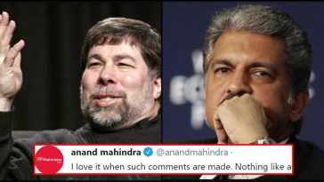 'Indians lack creativity' - Apple co-founder insults 1.3 billion people; Anand Mahindra strikes back!