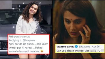 """Donate Your Car Instead Of Tweeting"" - Guy mocks Taapsee Pannu"