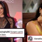 'Surgery gone wrong on face' -a female fan trolls Kiara Advani; the actress strikes back!