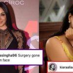Kiara Advani responds to Trolls accusing her of undergoing Plastic treatment