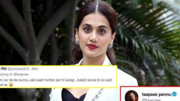 'Don't crowd my timeline with your nonsense': Taapsee hits out at troll who asked her to lend her car
